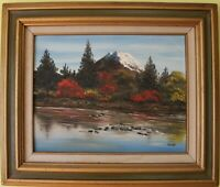 Original Vintage  oil painting on board landscape, signed Sheehan, framed