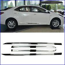 Stainless Steel Body door Side Molding trim For 2014-2016 Toyota Corolla Sedan