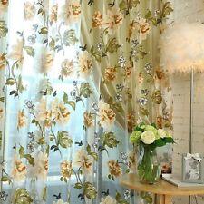 Schlaufenschal Blume Gardine Schlaufen Tür Fenstervorhang Curtain Gelb Vorhänge