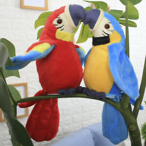 Electronic Talking Parrot Plush Toy Sound Record Repeat Speaking Toys kids CHIC.
