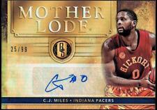 VM 2016-17 Panini Gold Standard Mother Lode Autographs #28 C.J. Miles #25/99