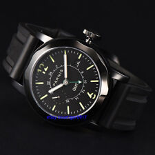 Parnis Sapphire Glass Men's Gents 44mm Automatic Date Window Movement GMT Watch