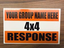 4x4 Response Magnetic 450mm*150mm Sign car windscreen Add Your Group Name Rescue