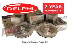 Fiat Grande Punto 1.2 Pair Rear Delphi Brake Drums Braking Part Replace 2005