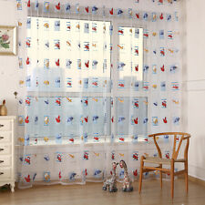Child Car Tulle Window Screens Door Balcony Kids Room Curtain Panel Sheer Drapes