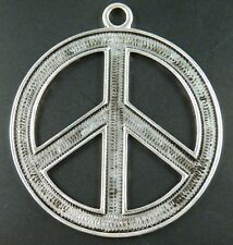"6pcs Tibetan Silver ""Peace Sign"" Charms 65x58x2mm AD31030"