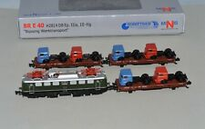 N Scale Hobbytrain H2814 Factory Transport Set 1 BR E 40 w/ DCC & 3 Freight Cars