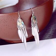 Women Silver Color Shell Earrings Abalone Shell Bohemian Style Drop Ear Earrings