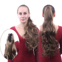 New Thick Clip In Pony Tail Hair Extensions Claw Clip On Ponytail One Piece