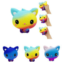 Cute Colourful Galaxy Cat Scented Charm Slow Rising Squeeze Stress Reliever Toy
