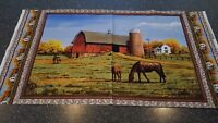 Countryside Panel 23x42 Hautman VIP Country Barn Farm House Horse Pasture