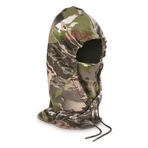 New Under Armour Men's UA Camo Storm Hunt Facemask Hood Balaclava Forest OSFA