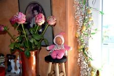 doudou corolle neuf  rose robe fleurie 23 cm etiquette idee cadeaux