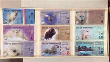 New listing Lot 9 Pcs ,Arctic 1�2�3�5�6�8�9 �10�15 Dollars commemorative test notes/Unc