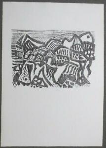 """Bargheer Eduard  - """"Vulkanische Landschaft"""", 1965"""