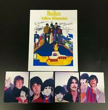 BEATLES LOT OF 5 YELLOW SUBMARINE SIGN PHOTOS PREMIERE 1968 W/CUTOUTS CEL  203