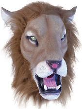 Tête Complète Latex Animal Masque De Lion Safari Costume Halloween Chat sauvage