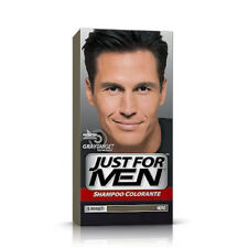 JUST FOR MEN SHAMPOO COLORANTE 5 MINUTI NERO H-55 COPRE CAPELLI GRIGI