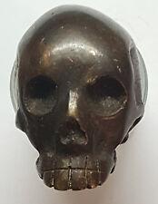 Vanité CRANE  BRONZE Memento MORI Tête-de Mort Skull sculpture Cabinet Curiosité