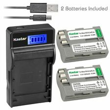Kastar EN-EL3 Battery& Slim LCD Charger for Nikon D50 D70 D70s D80 D90 D100 D200