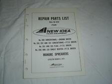 AVCO New Idea 206 202 203 205 208 210 207 manure spreader parts catalog manual