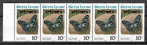 Jan1) Sierra Leone Insects Butterflies SG#1658 Cat £37.50 MNH - Free Shipping