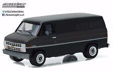1:64 GreenLight *BLACK BANDIT R16* 1986 Chevrolet G20 Van *NIP*