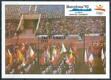 Gambia - Olympische Sommerspiele Barcelona Block 101 postfrisch 1990 Mi. 1079