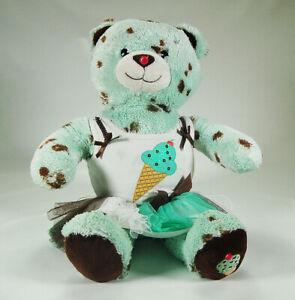 "Build A Bear Mint Chocolate Chip Baskin Robbins Teddy With Outfit 16"" BAB 2010"