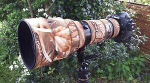 Nikon 400mm f2.8 AFS ED VR Neoprene lens protection cover camo