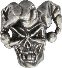 Schmuckatelli Co Knife New Jester Skull Bead Pewter JSTP