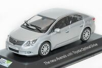 Toyota Avensis Saloon Silver, dealership model, Minichamps 1:43 scale, car gift