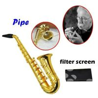 Kreative Rauchen Rohre Kleine Saxophon Tragbar Metall Tabak Unkraut Pfeife