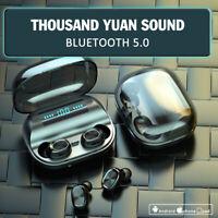 Bluetooth 5.0 Headset TWS Wireless Earphones Mini Stereo Headphones LED Earbuds.