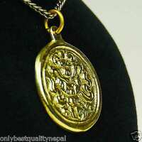 Anhänger Goldener Amulett Buddha aus Messing Glücks Symbol a89