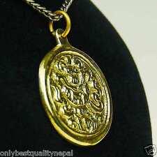 Pendant Golden Amulet Buddha Made of Brass Good-Luck Symbol a89