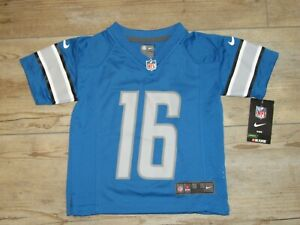 Nike Detroit Lions Jared Goff #16 On-Field Home Jersey Kids size 4 (Small)