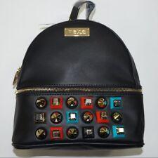 bebe Women's Sadie Studded Mini Backpack Black