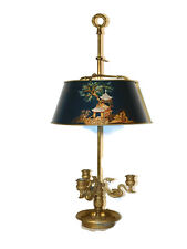 CHAPMAN Lamp Co. Chinoiserie Decorated Bouillotte Lamp