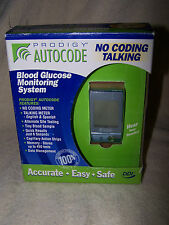 Prodigy Autocode Blood Glucose Monitoring System Talking Meter No Coding