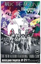 Walk The Moon / Mowglis 2013 Portland Concert Tour Poster-Group Holding Hands Up