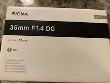 Sigma 35 1.4 Art L Mount For Leica L Mount Open Box