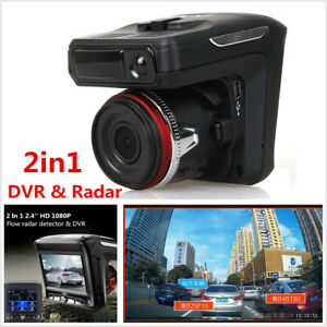 2In1 Car DVR Camera Dash Cam Recorder+Radar Laser Speed Detector Alert G-Sensor
