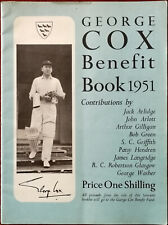 George Cox Benefit Book 1951 Vintage Cricket Book