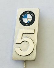 BMW 5 Series European Motor Car Advertising Pin Badge Rare Vintage (H11)