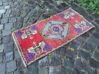 Carpet, Doormats, Small rug, Vintage handmade rug, Wool rug   1,6 x 3,1 ft