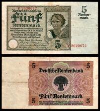 DEUTSCHLAND -  ALLEMAGNE - 5 rentenmark - 1926 - P171 - VF / TTB