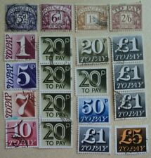 COLLECTION OF 20 POSTAGE DUE STAMPS