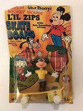 Vtg Walt Disney Official Mickey Mouse Lil Zips Skate Board Zoom Bounce Toy 1979