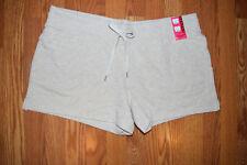 NEW Womens EDDIE BAUER Heather Oatmeal Lounge Short Sweat Shorts Size XXL